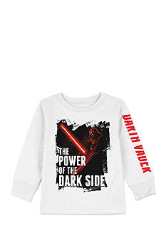 Star Wars Long Sleeve 'The Power Of The Dark Side' Darth Vader Tee Boys 4-7
