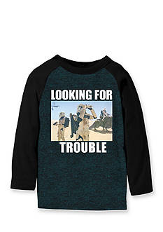 Star Wars Long Sleeve 'Looking For Trouble' Raglan Tee Boys 4-7