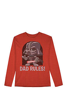 Star Wars Long Sleeve Darth Vader 'Dad Rules' Tee Boys 4-7
