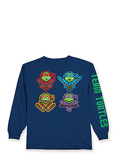 Nickelodeon™ Teenage Mutant Ninja Turtles™ Long Sleeve Pixel Character Faces Tee Boys 4-7