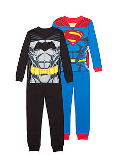 AME 4-Piece Batman® and Superman® Pajama Set