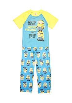 AME Minions 'We're Yellow' 2-Piece Pajama Set Boys 4-20