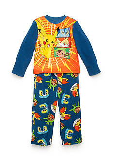 AME Pokemon™ Fully Charged Fleece Pajamas Boys 4-20