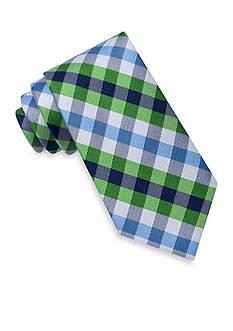J. Khaki Gull Gingham Tie
