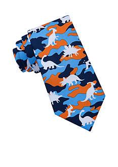 J. Khaki Dinosaur Camo Tie