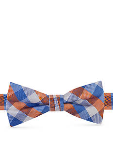 J. Khaki Oxford Box Plaid Bow Tie Boys 4-20