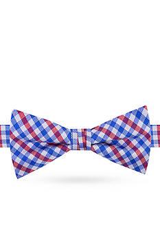 J. Khaki Micro Gingham Bow Tie Boys 4-20