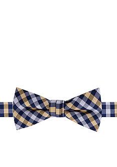 J. Khaki Alex Oxford Check Bow Tie