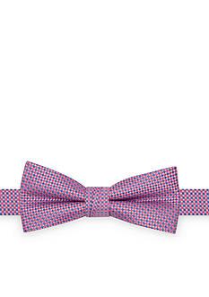 J. Khaki Micro Check Bow Tie