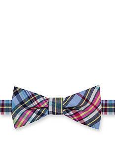 J. Khaki Brooklyn Plaid Bow Tie