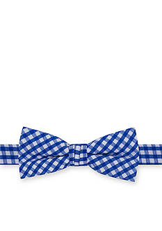 J. Khaki Picnic Gingham Bow Tie