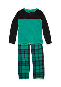 J. Khaki® 2-Piece Plaid Pajama Set Boys 4-20
