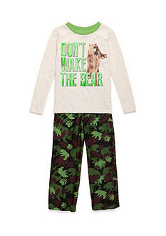 J. Khaki® Don't Wake The Bear 2-Piece Pajama Set Boy 4-20