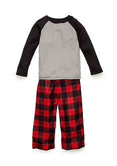 J. Khaki® Ribbed Knit and Plaid 2-Piece Pajama Set Boys 4-20