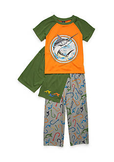 J. Khaki 3-Piece Swordfish Pajama Set Boys 4-20