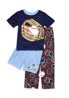 J. Khaki Baseball 3-Piece Pajama Set Boys 4-20