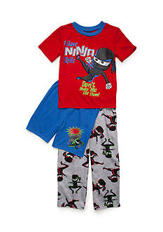 J. Khaki 3-Piece Ninja Pajama Set Boys 4-20