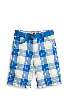 Red Camel Boys® Plaid Shorts with Belt Boys 8-20