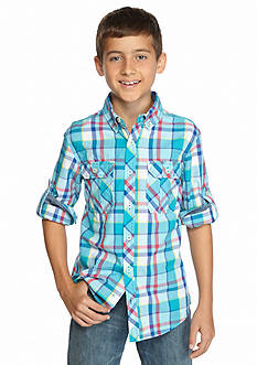 Red Camel® Long Sleeve Plaid Woven Shirt Boys 8-20