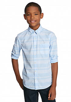 Red Camel® Long Sleeve Striped Woven Shirt Boys 8-20