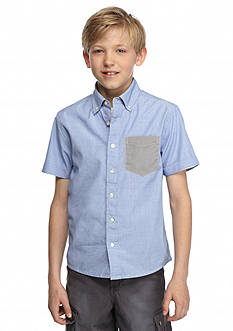 Red Camel® Solid Woven Filafil Shirt Boys 8-20