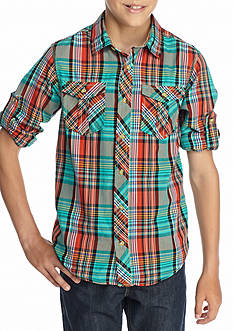 Red Camel® Plaid Woven Shirt Boys 8-20