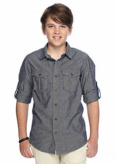 Red Camel Chambray Woven Shirt Boys 8-20