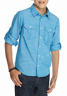 Red Camel® Solid Woven Shirt Boys 8-20