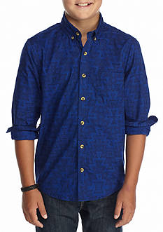 Red Camel® Printed Woven Shirt Boys 8-20