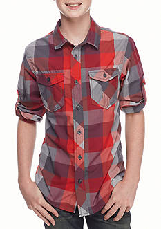 Red Camel® Plaid Woven Tee Boys 8-20