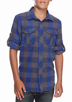 Red Camel Plaid Flannel Shirt Boys 8-20