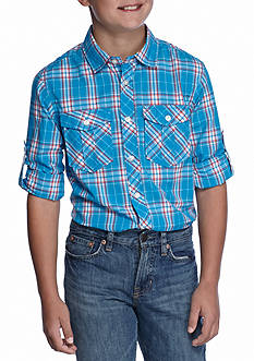 Red Camel® Woven Plaid Shirt Boys 8-20