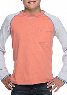 Red Camel Long Sleeve Raglan Tee Boys 8-20