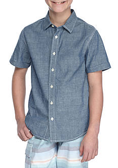 Red Camel® Chambray Woven Button-Front Shirt Boys 8-20