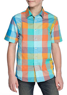 Red Camel® Plaid Woven Button-Front Shirt Boys 8-20
