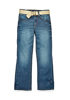 Red Camel Belted Bootcut Jeans Boys 8-20