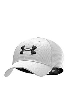 Under Armour® White Blitzing Stretch Fit Cap Boys 8-20