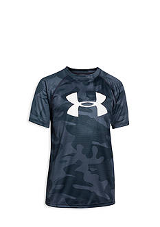 Under Armour® Short Sleeve Big Logo Novelty Tech Tee Shirt Boys 8-20