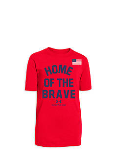 Under Armour® Short Sleeve Home of the Brave Tee Boys 8-20