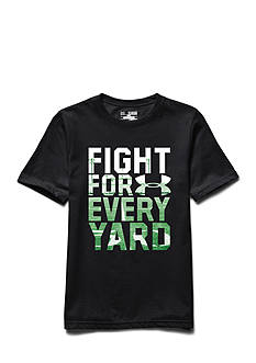 Under Armour® Short Sleeve 'Fight for Every Yard' Graphic Tee Boys 8-20