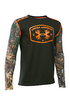 Under Armour® Camo Thermal Crew Tee Boys 8-20