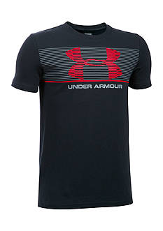 Under Armour Striped Logo Tee Boys 8-20