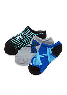 Under Armour® 3-Pack Next Logo Solo Socks Boys 8-20