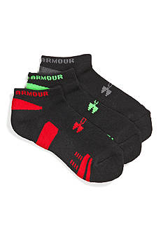 Under Armour 3-Pack No Show Socks Youth Large