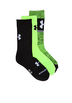 Under Armour® 3-Pack Next Statement Crew Socks Boys 8-20