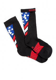 Under Armour® Undeniable Stars and Stripes Crew Socks Boys 8-20