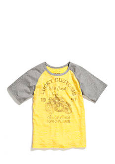 Lucky Brand Short Sleeve Drag Race Raglan Tee Boys 8-20