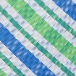 Boys Youth Ties: Green IZOD Oxford Multi Plaid Tie Boys 4-20