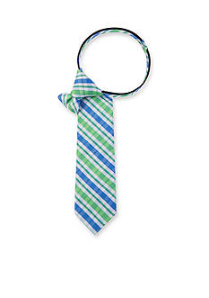 IZOD Oxford Multi Plaid Tie Boys 4-20
