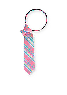 IZOD Capital Plaid Zipper Tie